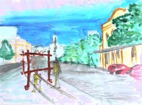 Projeto Arte na Rua de Mona Carvalho - Desenho Ana Lia Branchi